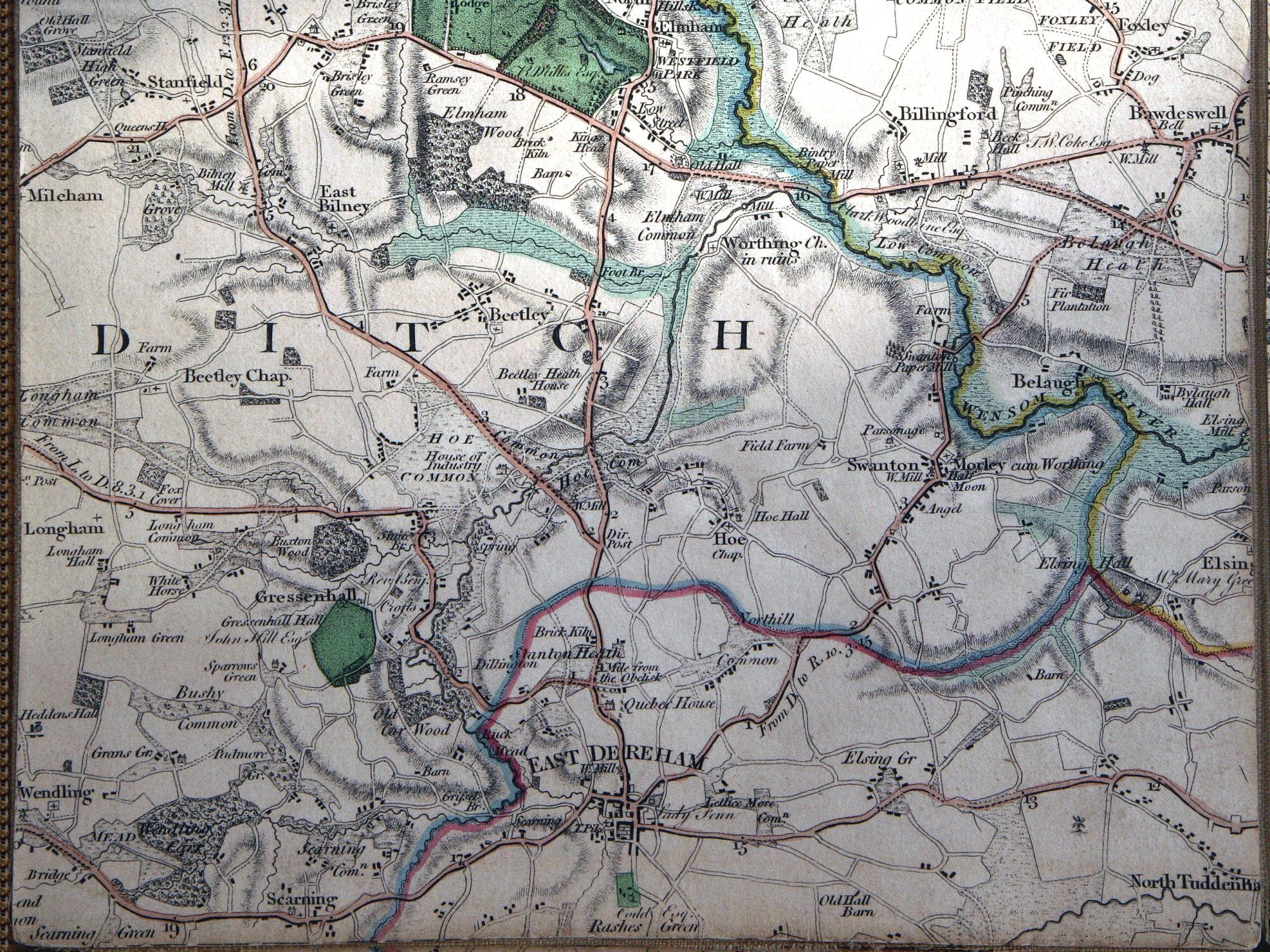 Fadens Map Of Norfolk Map Browser Browse The Original Old Map - Vintage maps uk